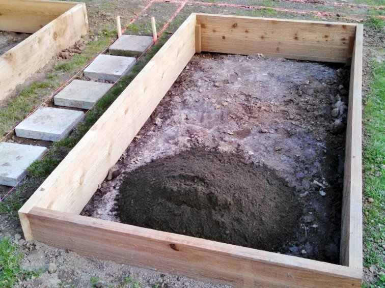 Filling raised garden beds with new dirt