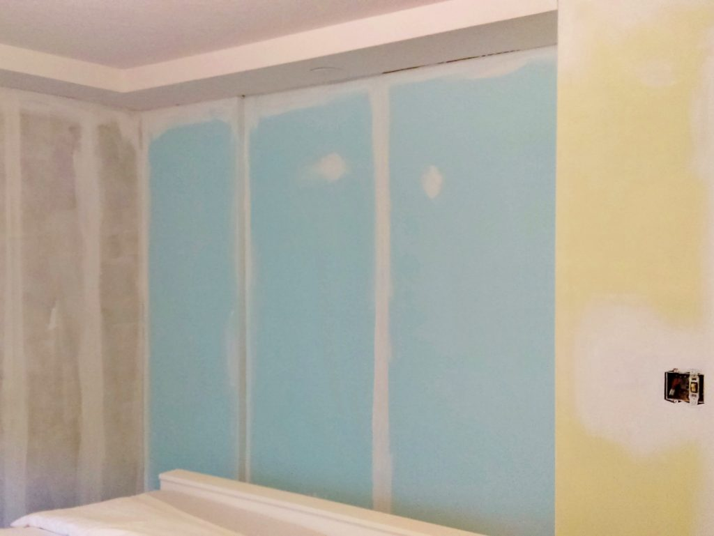 Trying wall paint colors