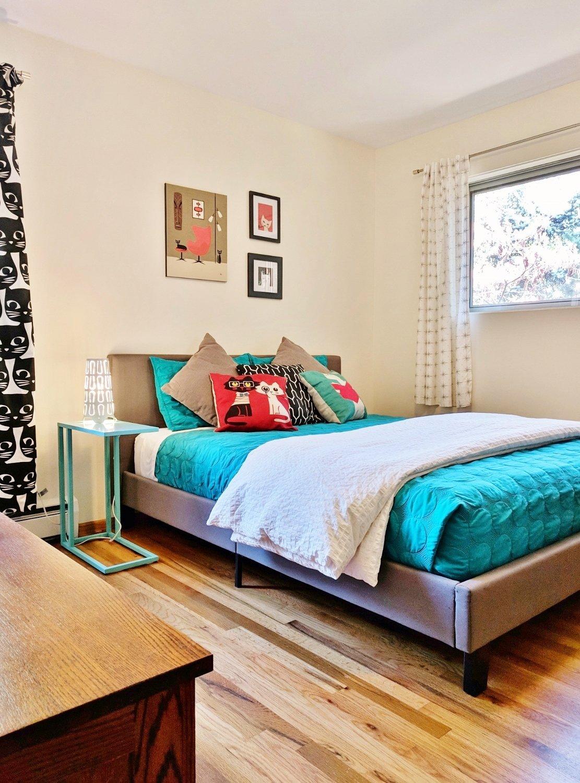 Modern Cat-Themed Bedroom