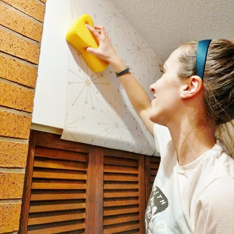 Wiping down wallpaper