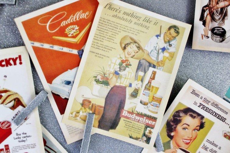 Mid-century beer ad postcard