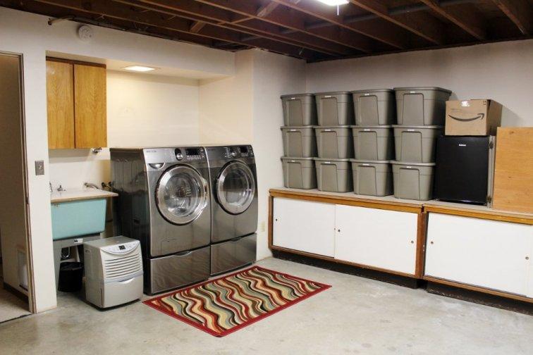 Fixer upper basement laundry room before update