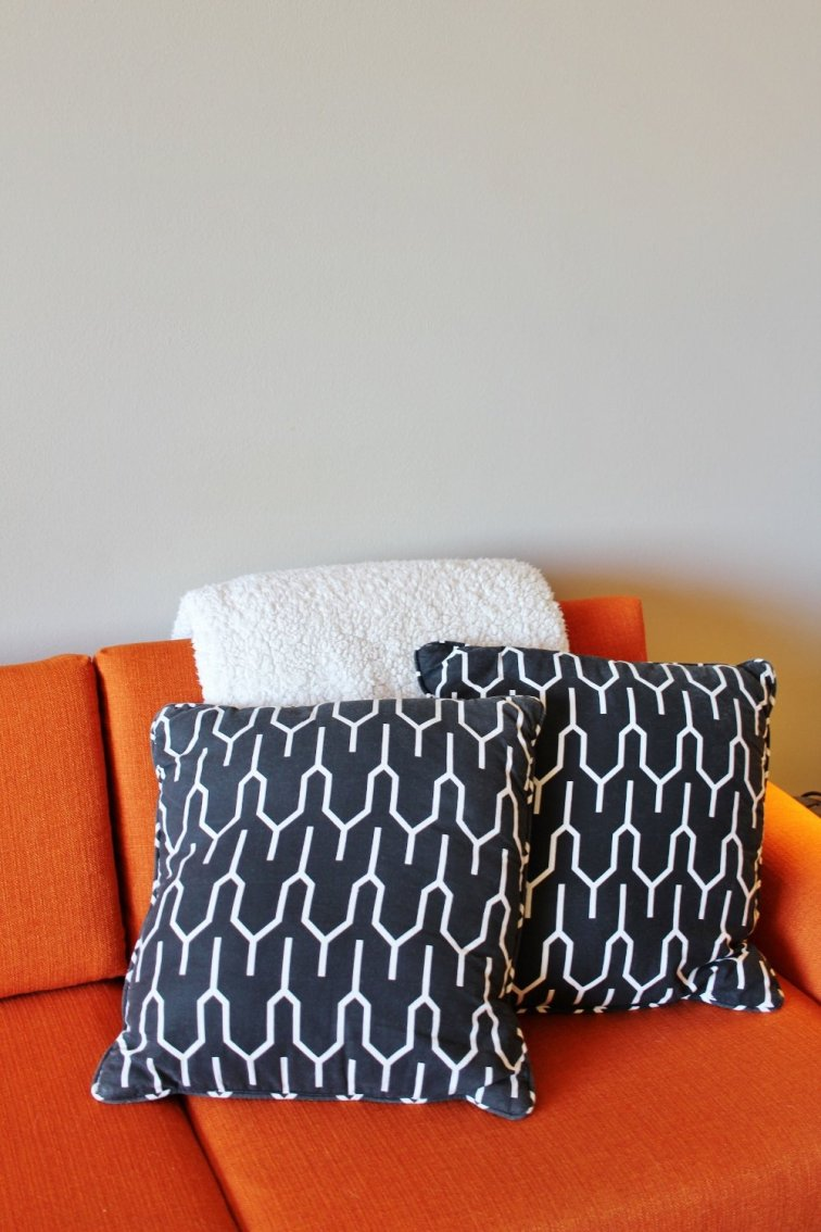 Simple Scandi black and white pillows