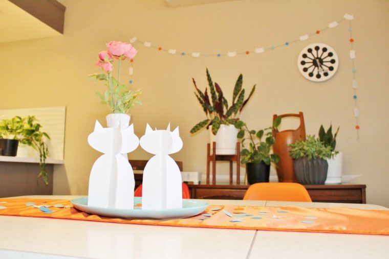 DIY modern cat party decor ideas