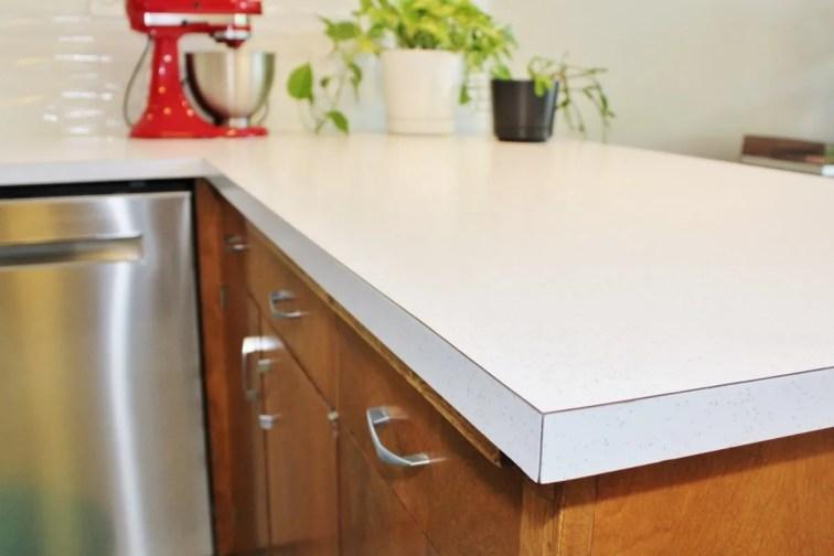 After installing retro glitter laminate kitchen countertops