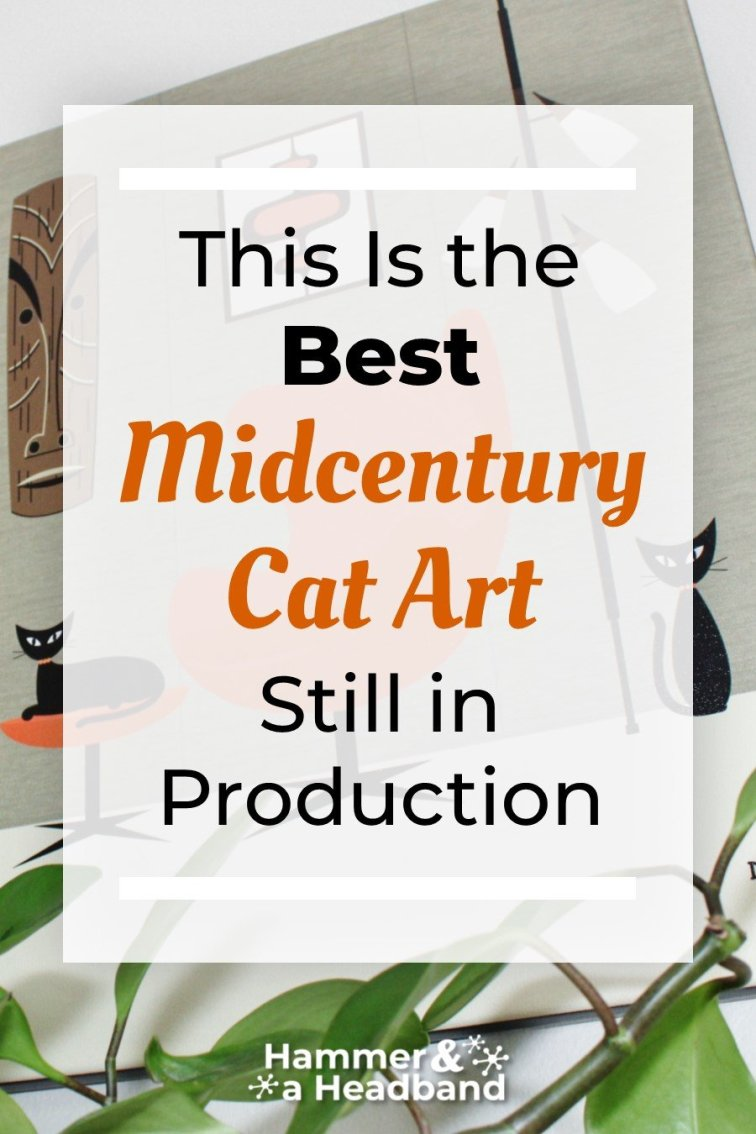 This is the best mid-century cat art still in production
