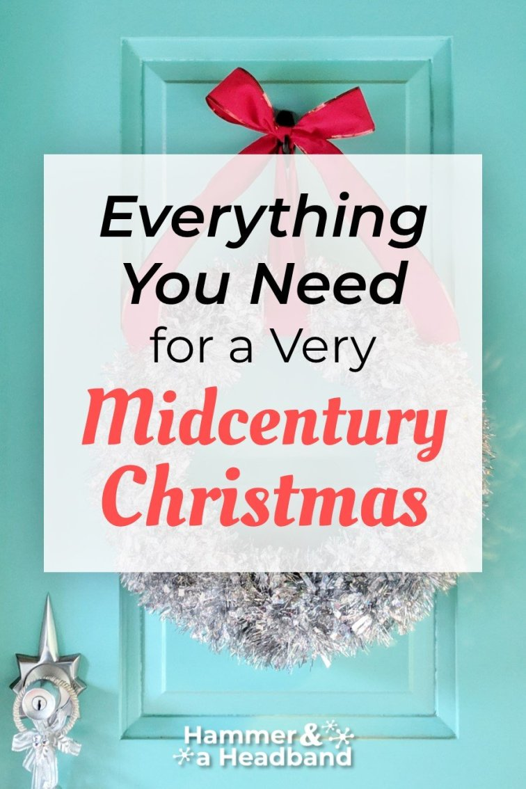 Everything you need for a very mid-century modern Christmas