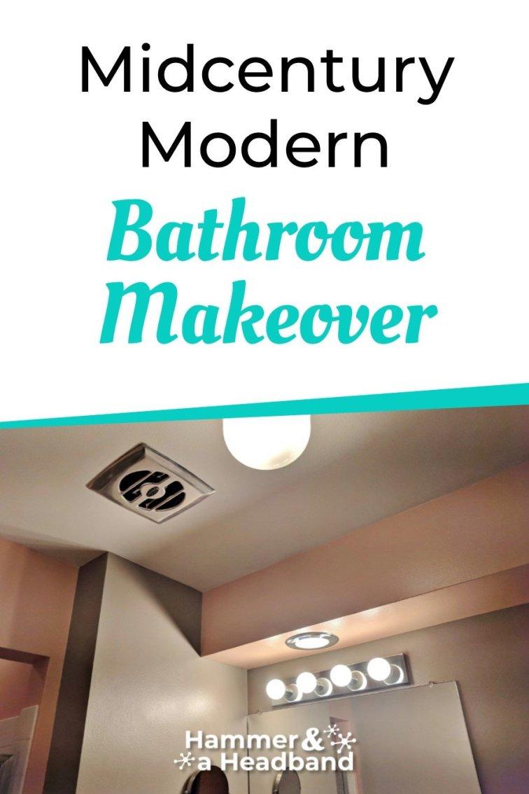Mid-century modern bathroom makeover