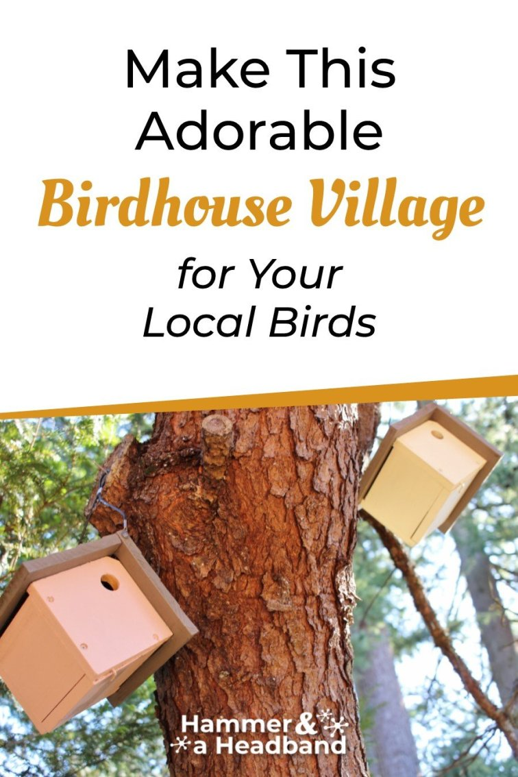 Make this adorable birdhouse village for your local birds