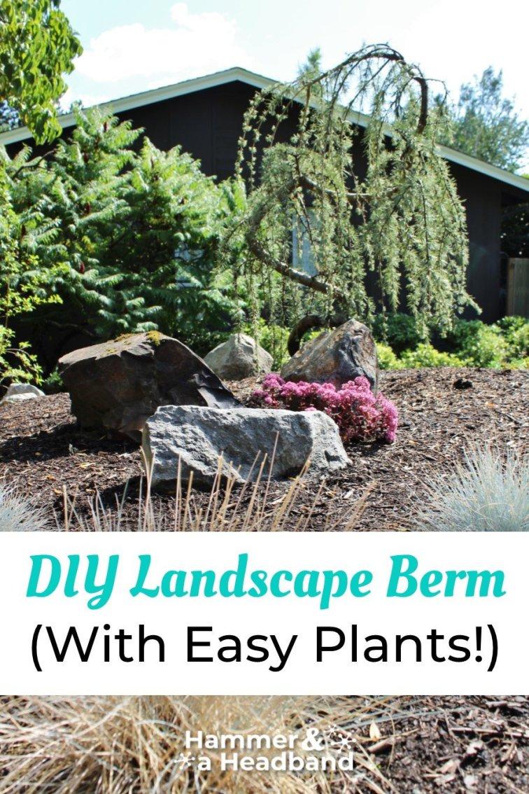 DIY landscape berm with easy plants