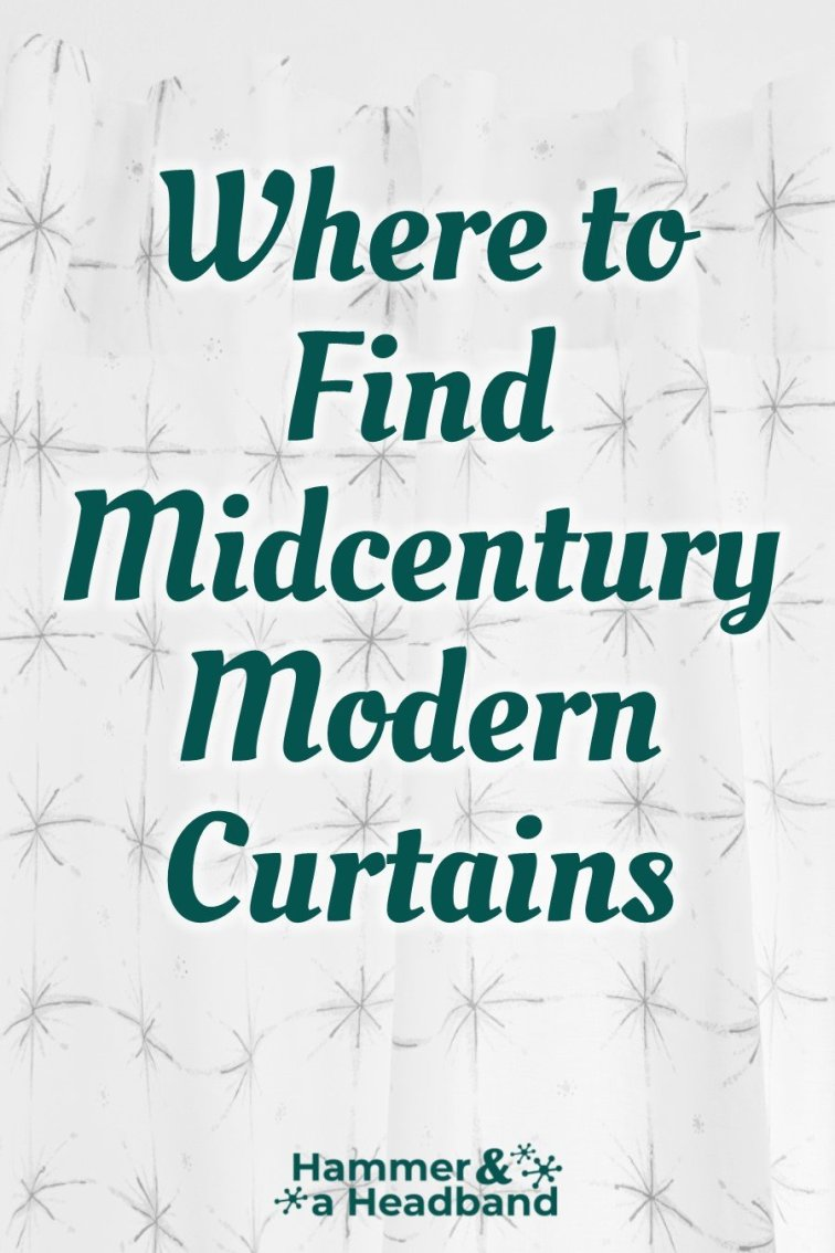 Where to find mid-century modern curtains for your home