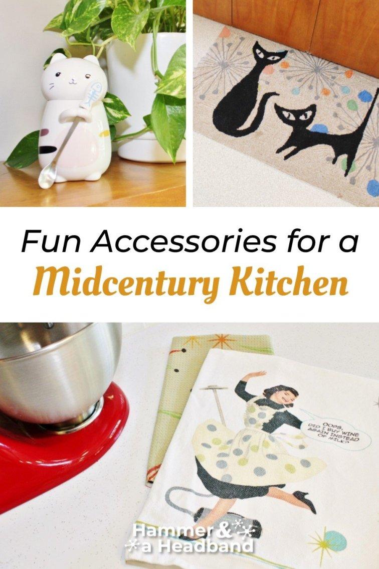 Fun accessories for a mid-century modern kitchen