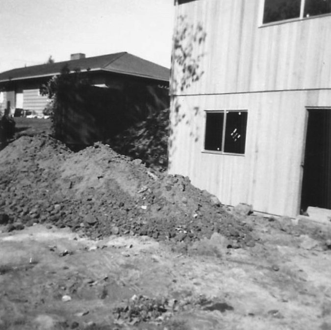 Digging up backyard and building 1960s ranch