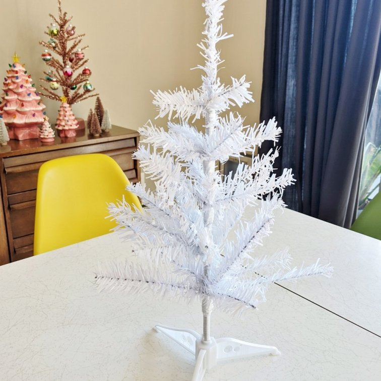 White Christmas tree from the Dollar Tree store