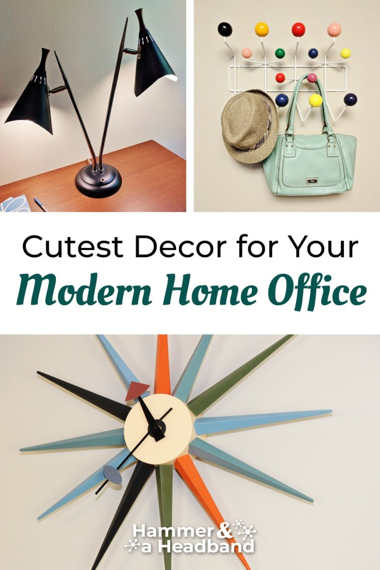 Mid-century modern decor accessories for your modern home office