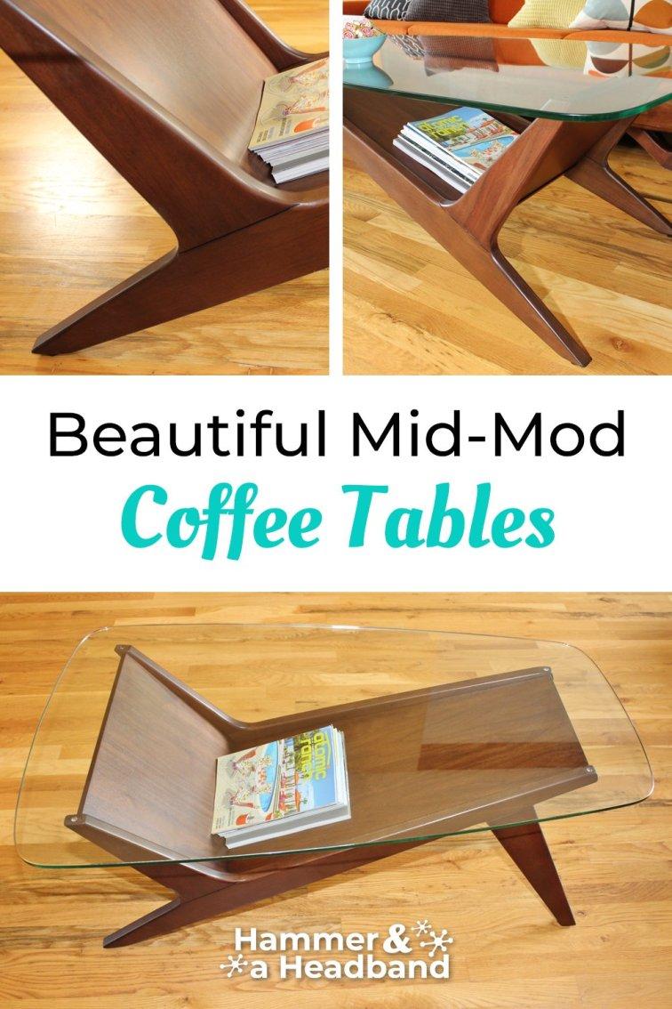 Beautiful mid-mod coffee tables