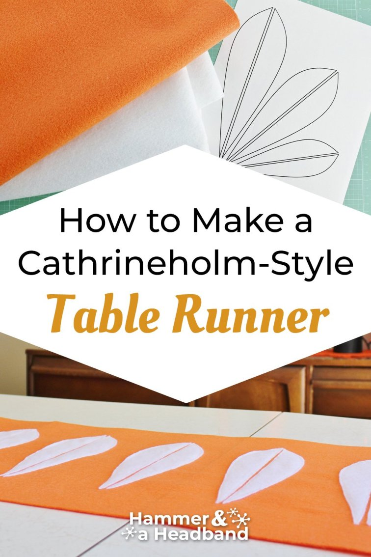 How to make a Cathrineholm-style table runner