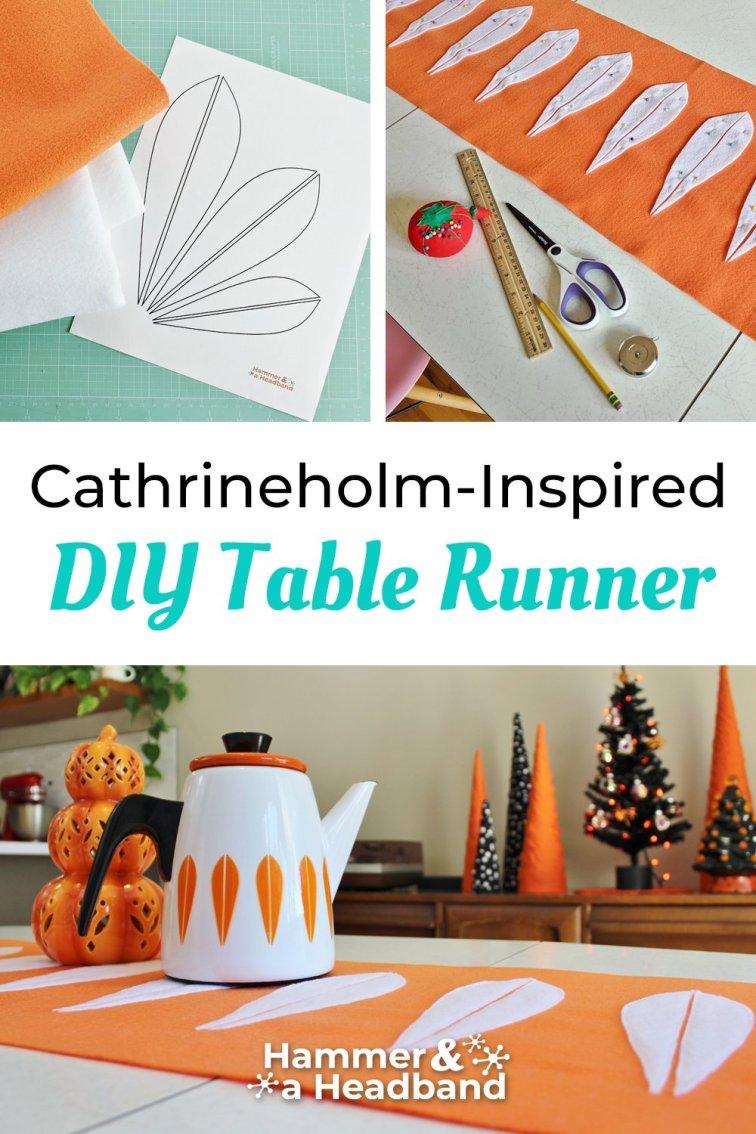 Cathrineholm-inspired DIY table runner