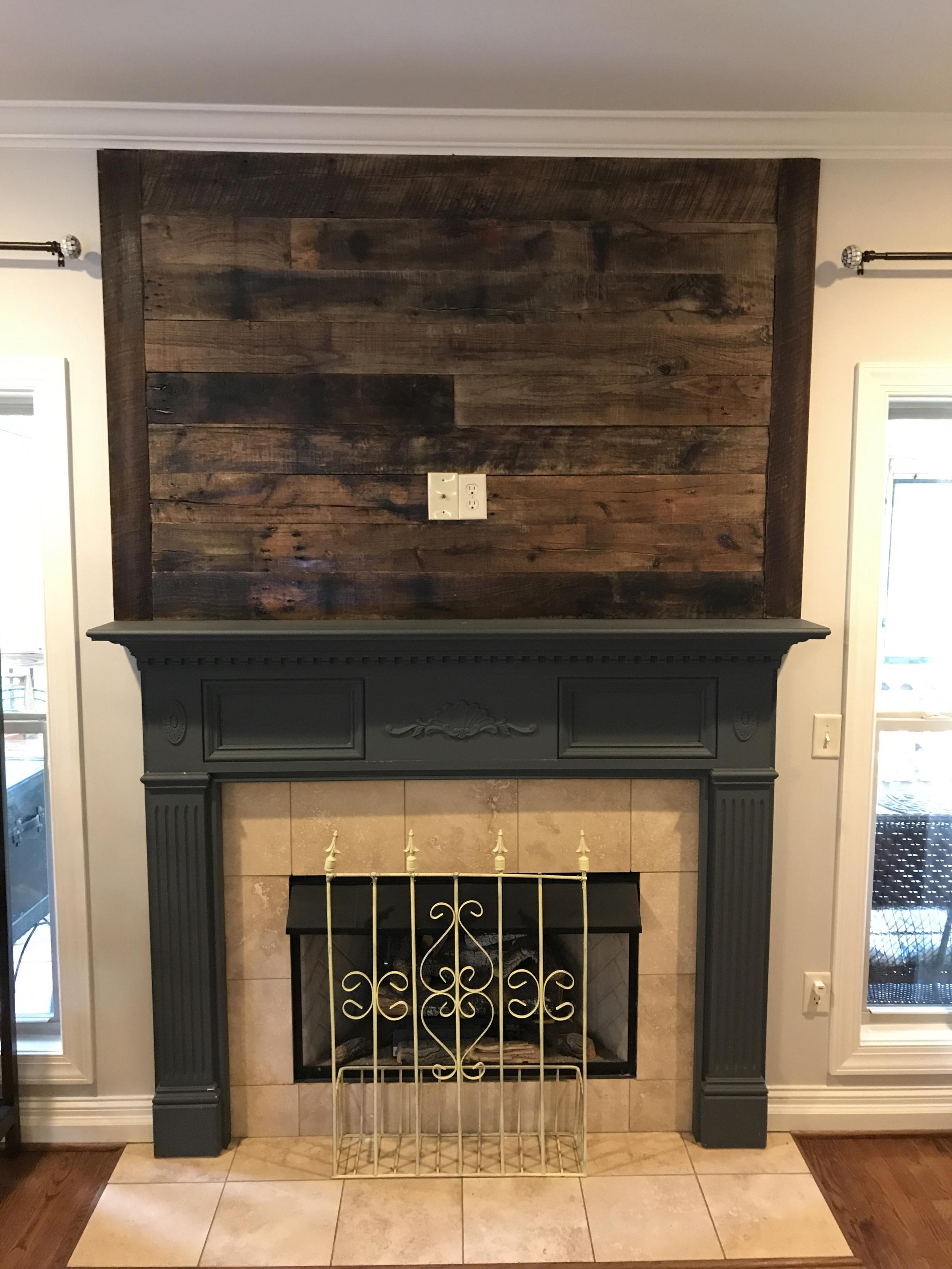 fireplace accent walls u2013 hammerhead woodworks