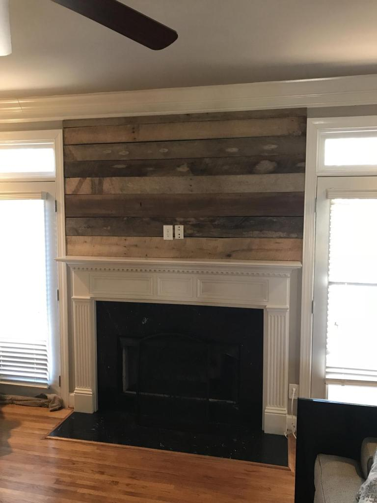 with barn home improvement wood yours making fireplace barnwood design and farmhouse reclaimed mantel
