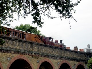Steam train at Ravenscourt Park Arches, June 23rd 2019