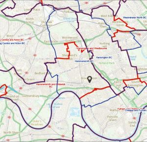 Hammersmith parliamentary constituencies proposed 2021