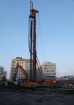 Piling Rig at the NCP building site