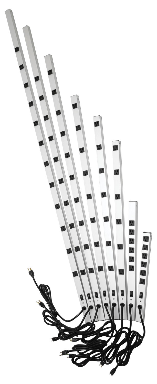 15 Amp Vertical Rackmount Outlet Strip (1585-6-7-8 Series
