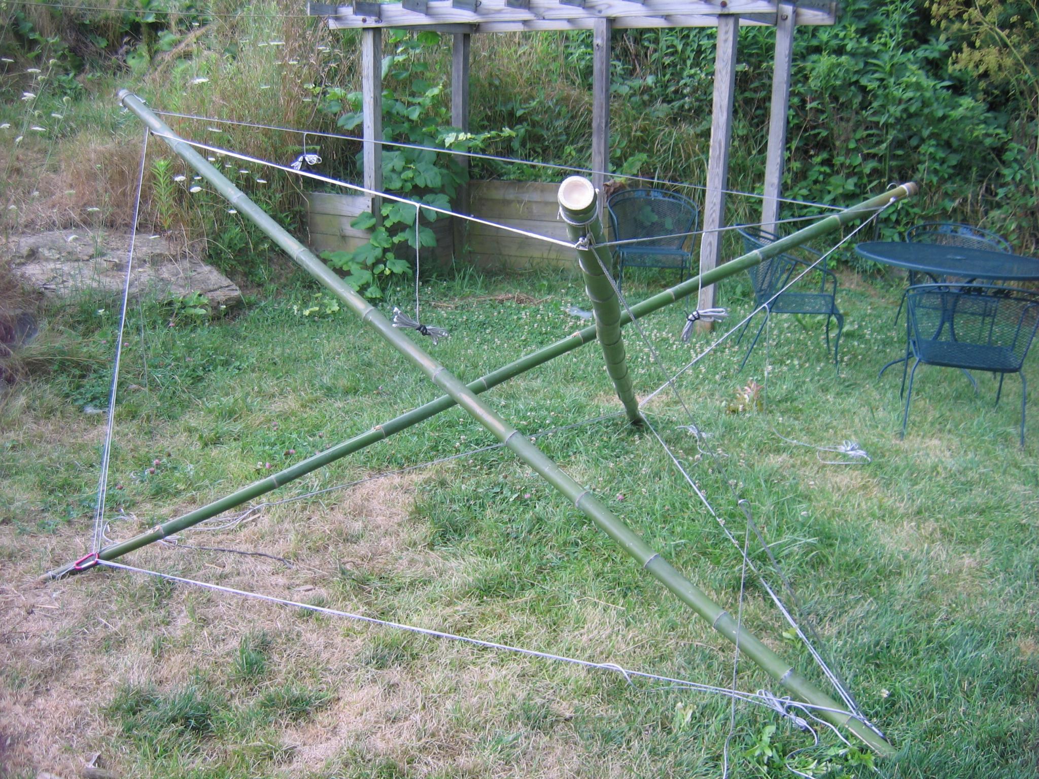 Bamboo Tensegrity Hammock Stand Prototype