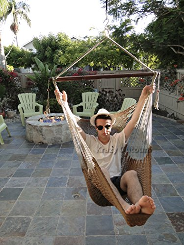 Charmant The Soft 100% Cotton And Perfect Size Makes The Krazy Outdoors Mayan  Hammock Chair An Incredible Comfortable Option. While Human Made Materials  And ...