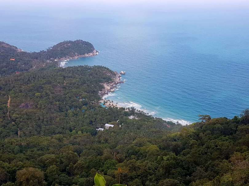 Sea and jungle vistas from the viewpoint
