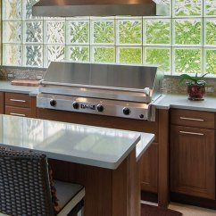 Outdoor Kitchen Cabinets Polymer Design Layout Best Weatherproof Summer In ...