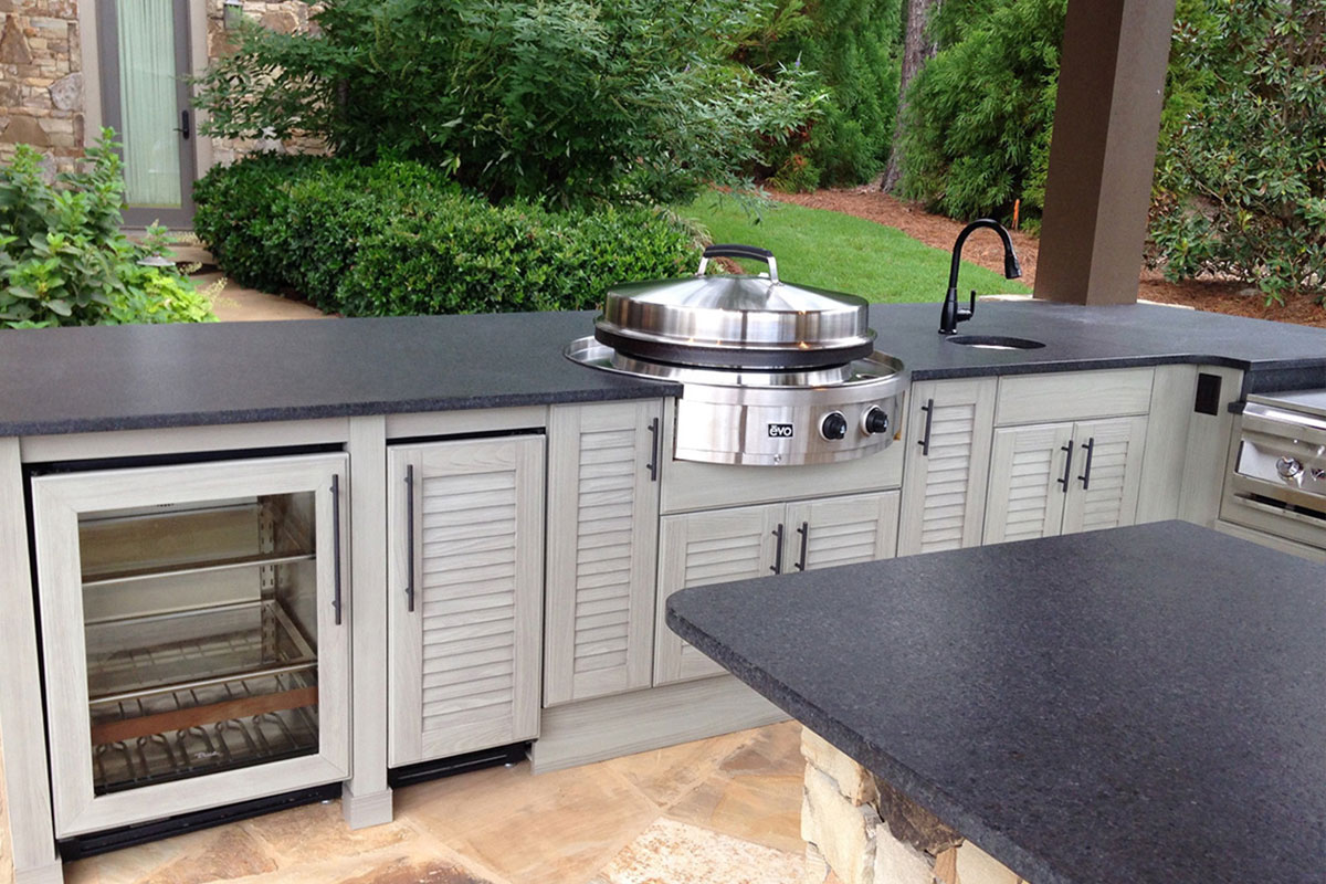 summer kitchen design laminate floors in naturekast outdoor cabinet gallery