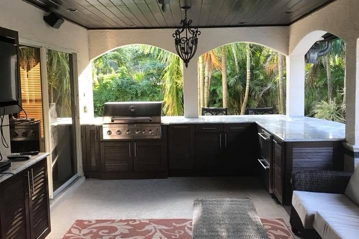 summer kitchens kitchen cart with drawers new outdoor cabinets installation in melbourne fl naturekast