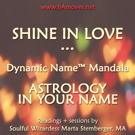 Dynamic Name Mandala by Soulful Wizardess Marta Stemberger