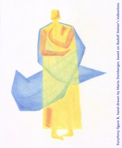 Eurythmy figure B, hand-drawn by Marta Stemberger, based on Rudolf Steiner's indications