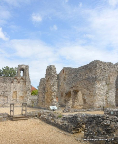 12th century Wolvesley Palace ruins Winchester