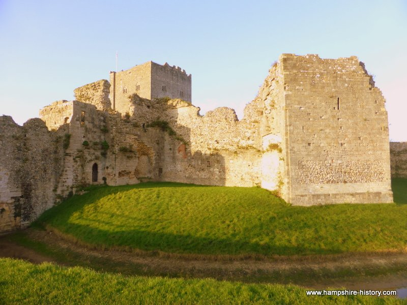 Portchester Castle, find out more about the castle in different periods of it's history