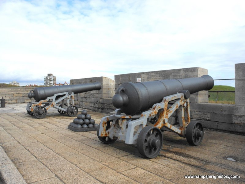The cannon at Southsea Castle
