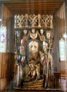Altar piece St John St Mary's church Amport