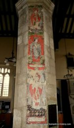 C15th Mural St Lawrence's Church Alton