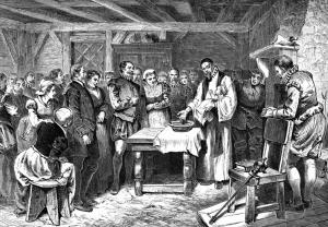 Virginia Dare baptised on Roanoke