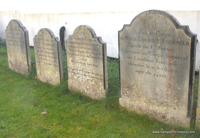 Graves of Napoleonic soldiers Alresford