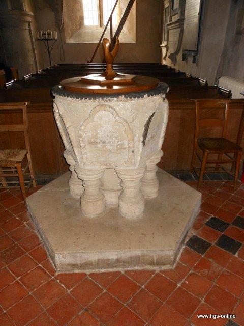 Font All Saints Church Steep