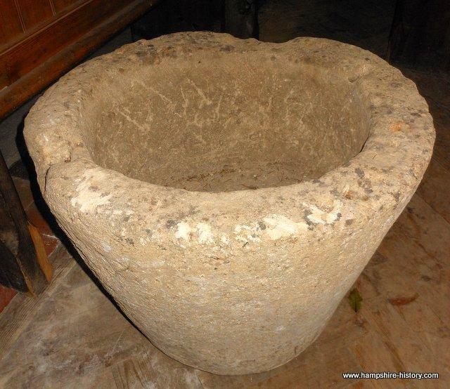 Hurstbourne Tarrant Baptismal Font