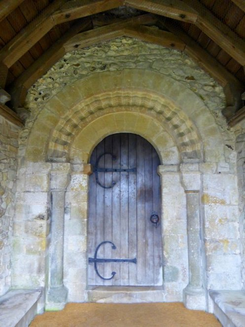 East Meon church Decorated Norman south door