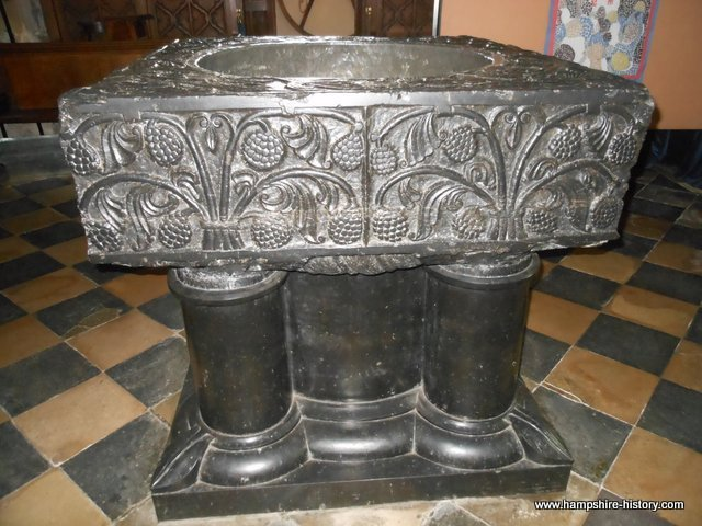 Tournai font St Mary Bourne Hampshire
