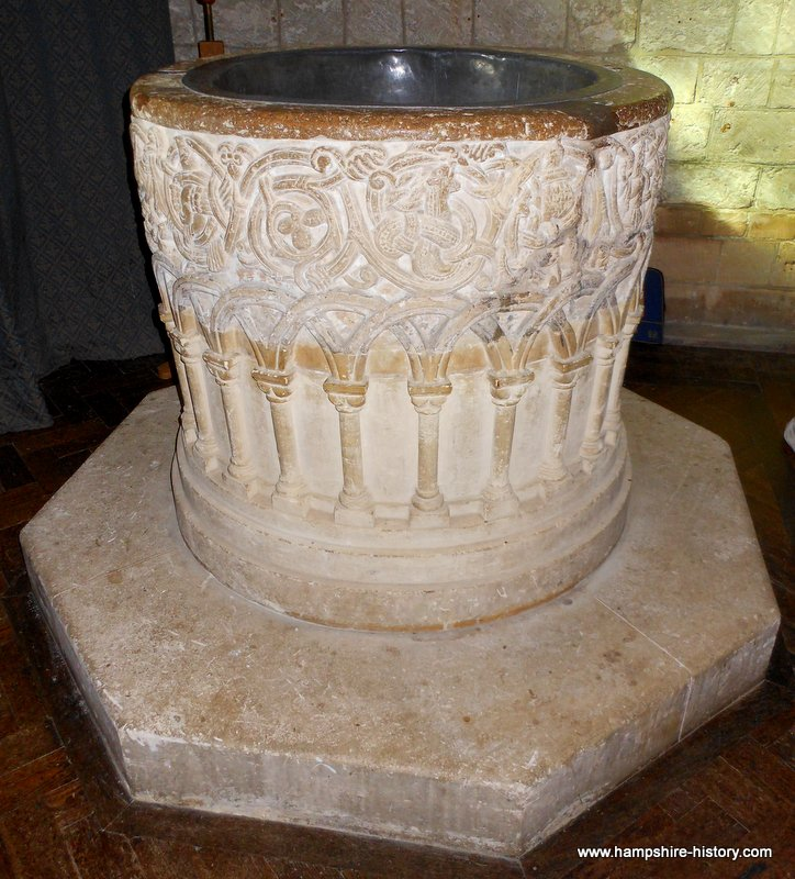 Hampshire Baptismal Fonts