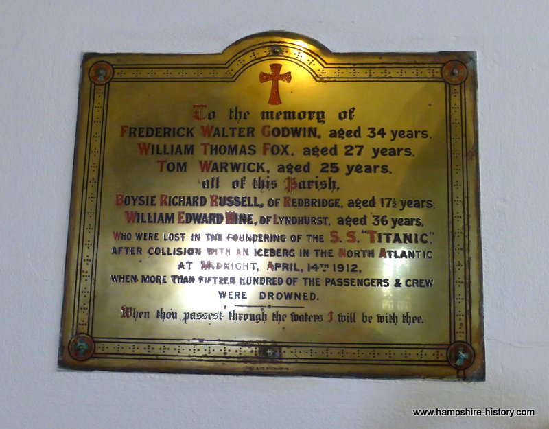 Titanic Memorial St Mary's church Eling