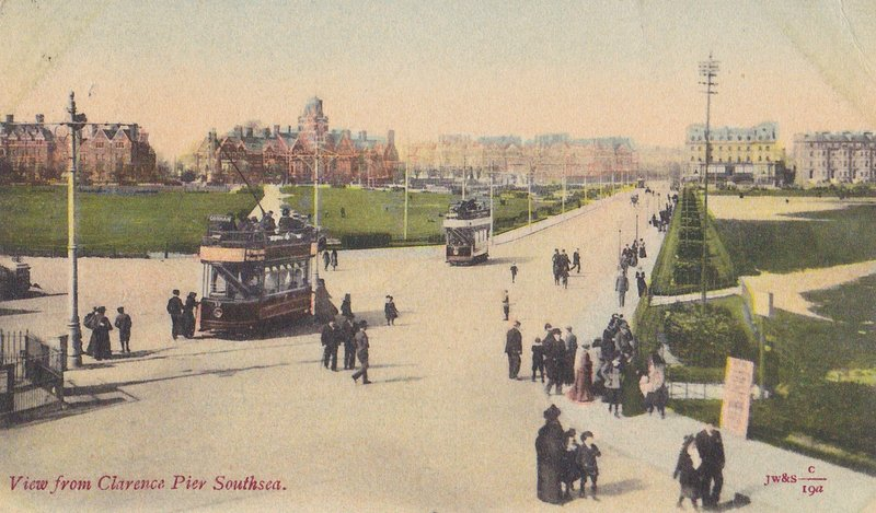 View from Clarence Pier Southsea 1904